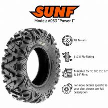 "24x10x11"" SUNF A-033 TYRE 6 PLY ATV QUAD E MARKED ALL TERRAIN"